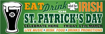 Eat Drink and be Irish banner
